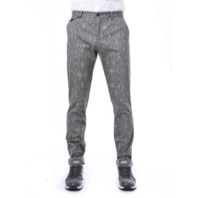 Pantaloni uomo slim in cotone con stampa tappeto GRIGIO GRIGIO