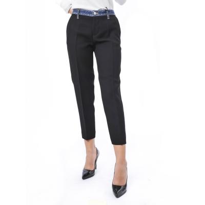 Pantalone con bande laterali con paillettes Nero Nero
