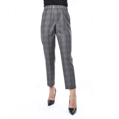 Pantalone elgante a quadri  Grigio Grigio