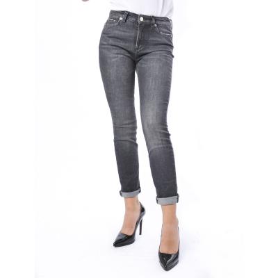 Pantalone in jeans skinny con decori Grigio Grigio