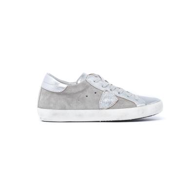 Sneaker Donna modello Paris in materiale scamosciato e pelle  GRIGIO GRIGIO