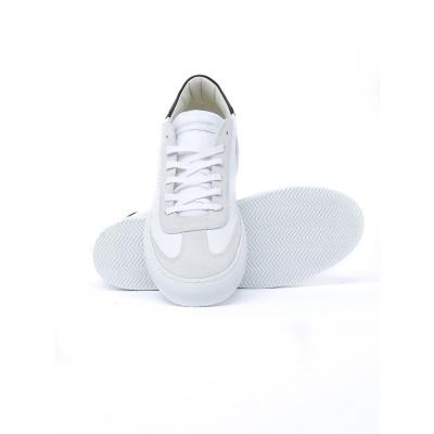 Sneaker Uomo in pelle con inserti in suede GRIGIO CHIARO GRIGIO CHIARO